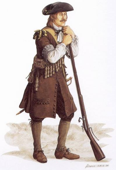 Soldier of the régiment de Carignan-Salières